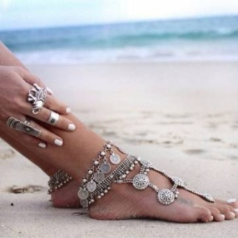 Vintage Charms Beach Anklet