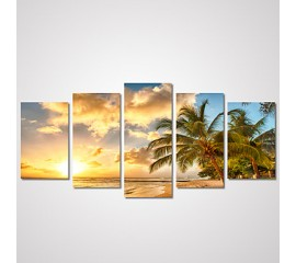 5 Panel Canvas Beach Art