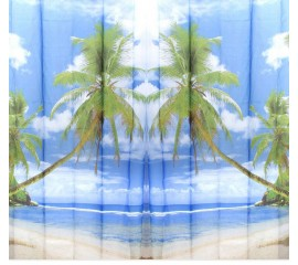 Beach Theme Shower Curtain