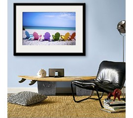 Framed Beach Chairs Art