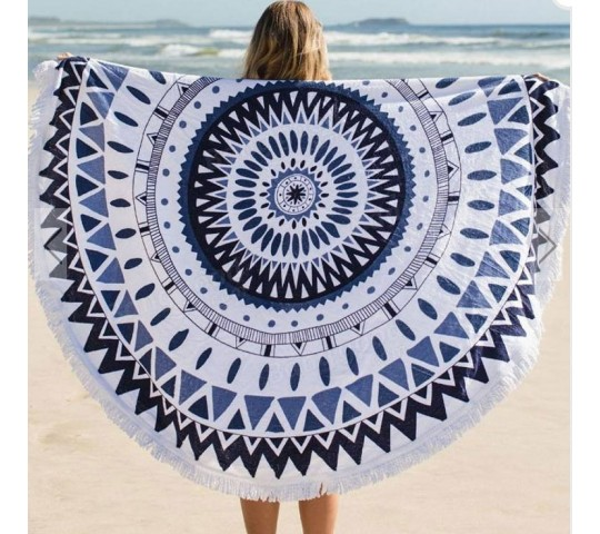 100% Cotton Round Beach Towel