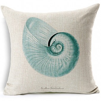 Seashell Coastal Cushion